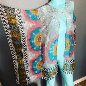 Meghan Los Angeles Cape Top Boho Hippie Kimono